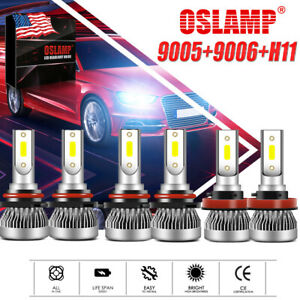MINI2 9005 9006 H11 Combo LED Headlight Bulb Kit 6500K High&Low Beam & Fog Light