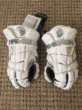 "Maverik (Maverick) M4 Mens / Boys Lacrosse Gloves White Medium 12"" Brand NEW!"