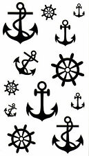 Anchor 2 Waterproof Temporary Tattoos Transfer Rudder Celebrity Pirate Sailor