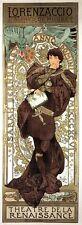 LORENZACCIO Art Nouveau Stampa Alphonse Mucha POSTER TEATRO de la Renaissance