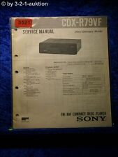 Sony Service Manual CDX R79VF CD Player (#3521)
