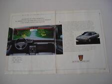 advertising Pubblicità 1989 ROVER 827 STERLING