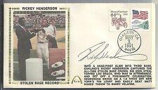 1991 Gateway Cache - RICKEY HENDERSON - Autograph Silk Cache - Stolen Base King