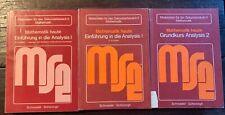 5 Mathematik-Bücher  Schnittpunkt Band 9 und 10: Mathematik + Analysis 1 + 2