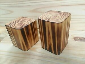 4 x 4 Wooden Candle Holders Single or Sets Choose Height