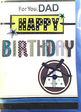 For You, DAD Happy Birthday ~ 3D Greetings Card ~ FREE Delivery (278)