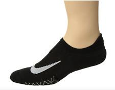 Nike Mens Black Elite Cushioned No Show Tab Running Socks Sz 4 6405