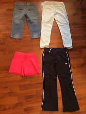 Girls Size 10 Lot Gap Justice Nike Total Girl Jeans Capri Shorts Athletic Pants
