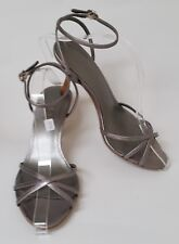 Loft Shoes Heels Sandals Strappy Silver Womens Size 7 M
