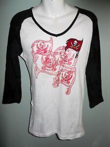 Tampa Bay Buccaneers Ladies V-neck Raglan Mission Statement tee