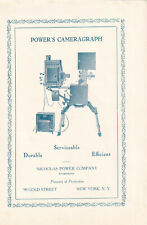 Nicholas Power Company 1918 Ad- Power's Cameragraph/ pioneers of projection