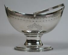 George III sugar basket.  Alexander Field, London 1793. Adam Classical revival.