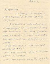 Georges BERNANOS    Lettre autographe signée.