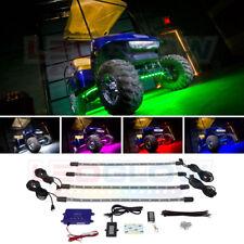 4pc LEDGLOW MILLION COLOR LED GOLF CART UNDERBODY LIGHT KIT 12 VOLT EZ GO