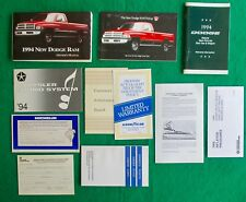 1994 94  Dodge Ram Pickup Owners Manual U17C