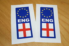 England Euro Number Plate Stickers (pair)