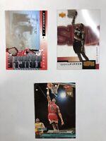 Scottie Pippen 3 Card Lot - '92 Fleer Ultra, '93 UD 3D, 2000 UD Slam - MINT HOF
