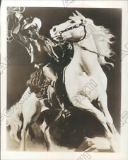 1951 Great Artist Sketch Of The Lone Ranger & His Horse Silver Press Photo