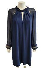 Stunning Gina Bacconi Navy Blue Shift Dress UK (14) EU (40)