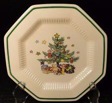 "Nikko Christmastime Bread Plates 6 1/2"" Christmas Tree EXCELLENT!"