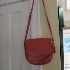 Coach Vintage Red leather Crossbody/Shoulder bag with flap. Very Good condition.