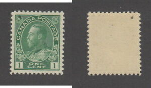 MNH Canada 1 Cent Yellow Green KGV Admiral Stamp #104i (Lot #19850)