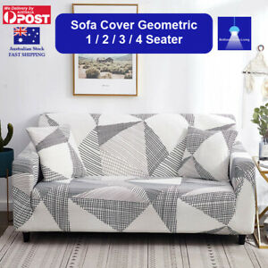 Sofa Cover 1 2 3 4 Seater Geometric Stretch Couch Covers Lounge Slipcover
