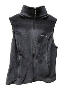 Columbia Black Fleece Zippered Vest Women's Size Medium
