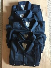5x Steel Grip Inc. Work Shirts Long Sleeve Men's Navy Blue X-Large Vinex HRC2