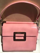 bb70f66c2f58 NWT ROGER VIVIER Miss Viv Small Shoulder Bag Handbag Pink Retail $1975
