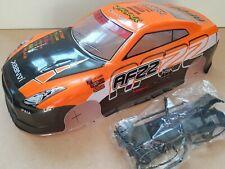 1/10 RC car 190mm on road drift Nissan GTR R35 Body Shell Orange W/Spoiler