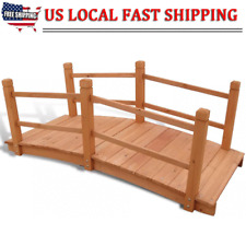 "4' 7""x1' 12""x1'10""S olid Wood Garden bridges Outdoor Backyard Stream Pond Walkway"