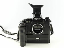 CANON F1 NEW 35MM SLR MANUAL FILM CAMERA AND SPEED FINDER FN  +  AE MOTOR DRIVE