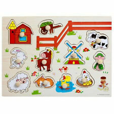 Kids Farm Puzzle toys Animals Shapes Colors Learning Alphabets Numbers Vehicle