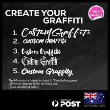 Custom Graffiti Name Lettering Car/Van/Window Shop Decal Sticker 300mm
