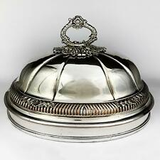 GEORGE III OLD SHEFFIELD PLATE MEAT DISH DOME COVER c1815
