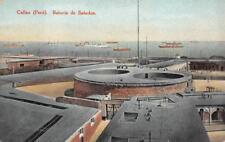BATERIA DE SALUDOS CALLAO PERU SHIPS POSTCARD (1922)