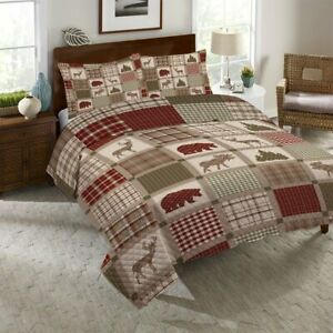 Laural Home Woodland Patch Reversible Quilt Set