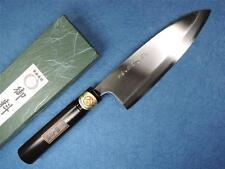 Japanese SAKAI Carbon Steel Deba Knife 165mm Kokutan