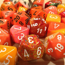 Chessex BY COLOR - 3 ounces assorted ORANGE dice from Pound-O-Dice - Pound Dice
