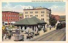 Charleroi Pennsylvania Station And Hotel Antique Postcard K82435