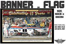 Bathurst Winner Celebrating 40 years 1977 XC Falcon Mt.Panorama Banner / Flag