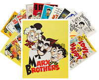 Postcards Pack [24 cards] Marx Brothers 3 Stooges Vintage Movie Poster CC1022