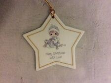 Precious Moments Ornament: Merry Christmas With Love ;1988 Enesco Star