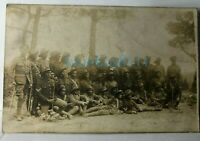 WW1 South African Labour Corps & British Officer Group Photo 5.5 x 3.5 inches