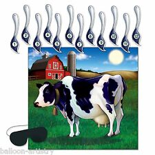 Farmyard Friends Kids Birthday Party 'Pin The Tail On The Cow' Wall Game Farm