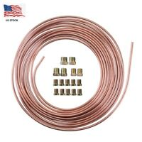 Copper Nickel Brake Line Tubing Kit 3/16 OD 25 Ft. Coil Roll W/ All Size Fitting