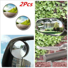 "2 Pack: Round 2"" Convex Stick On Rear-View Blind Spot Mirrors Universal"