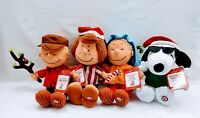 Hallmark Peanuts 2013 stuffed SET OF 4 WITH SOUND, CHARLIE, PATTY, LINUS, SNOOPY
