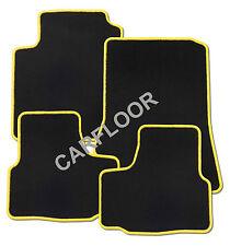 Für Seat Arosa Bj. ab 01.01 Fußmatten Velours schwarz mit Rand gelb und Halter